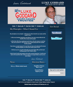Luke Goddard For Cocke County Trustee